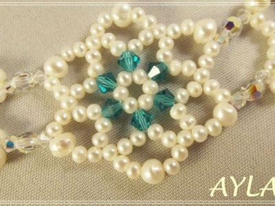 Snowflowers Beaded Bracelet Aylake