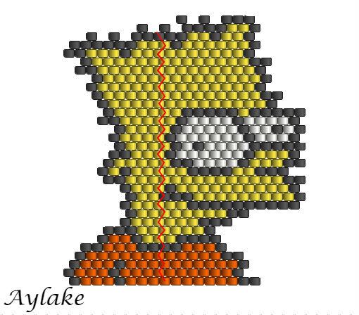 Simpson-Family-Surely-Can't-Put-A-Price-On-Family-Bart-Peyote-Stitch-Scheme-Aylake-9
