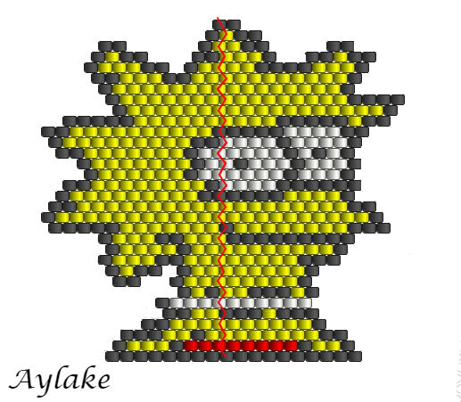 Simpson-Family-Surely-Can't-Put-A-Price-On-Family-Lisa-Peyote-Stitch-Scheme-Aylake-11