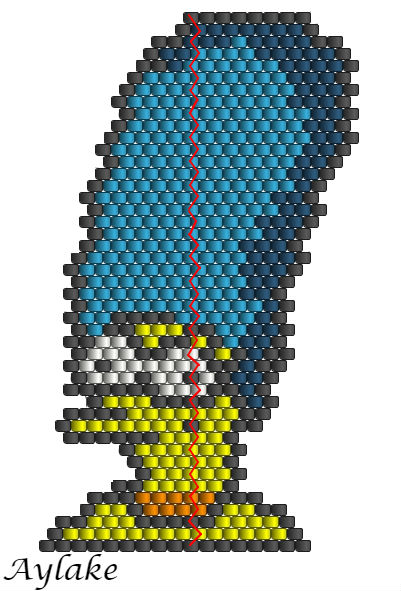 Simpson-Family-Surely-Can't-Put-A-Price-On-Family-Marge-Peyote-Stitch-Scheme-Aylake-6
