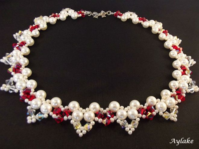 Butterflies Of The Love Beaded Pearls Necklace Aylake 2