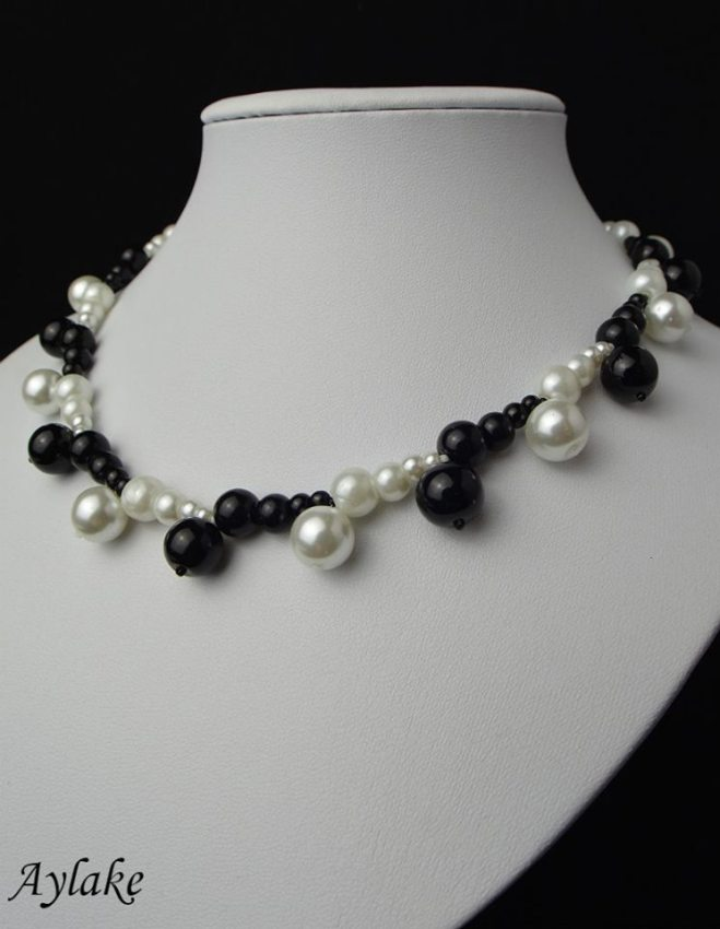 Black And White Pearls Adds Lovely Classic Elegance To Any Look Beading Aylake 2