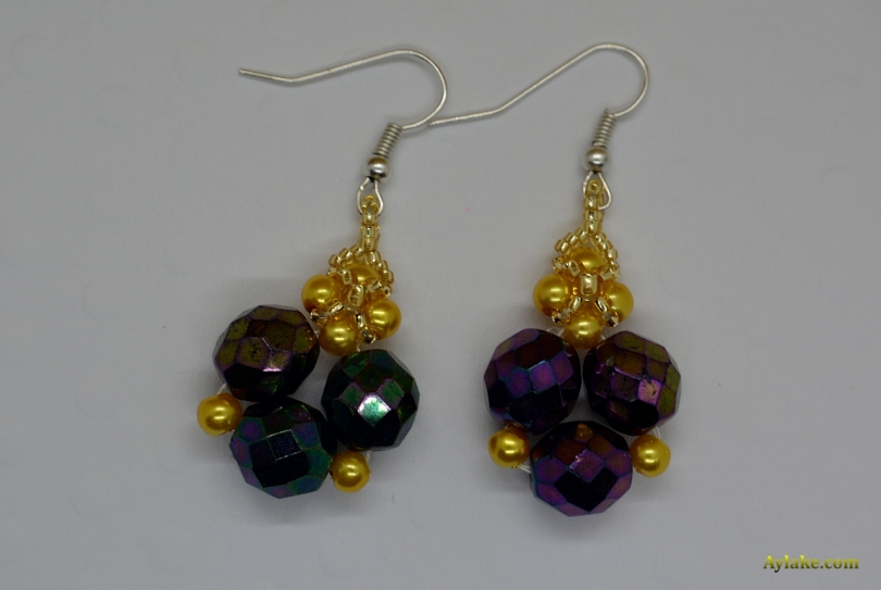 Clara-When-You-Love-What-You-Have-You-Have-Everything-Beaded-Earrings-Purple-Tutorial-Aylake-4