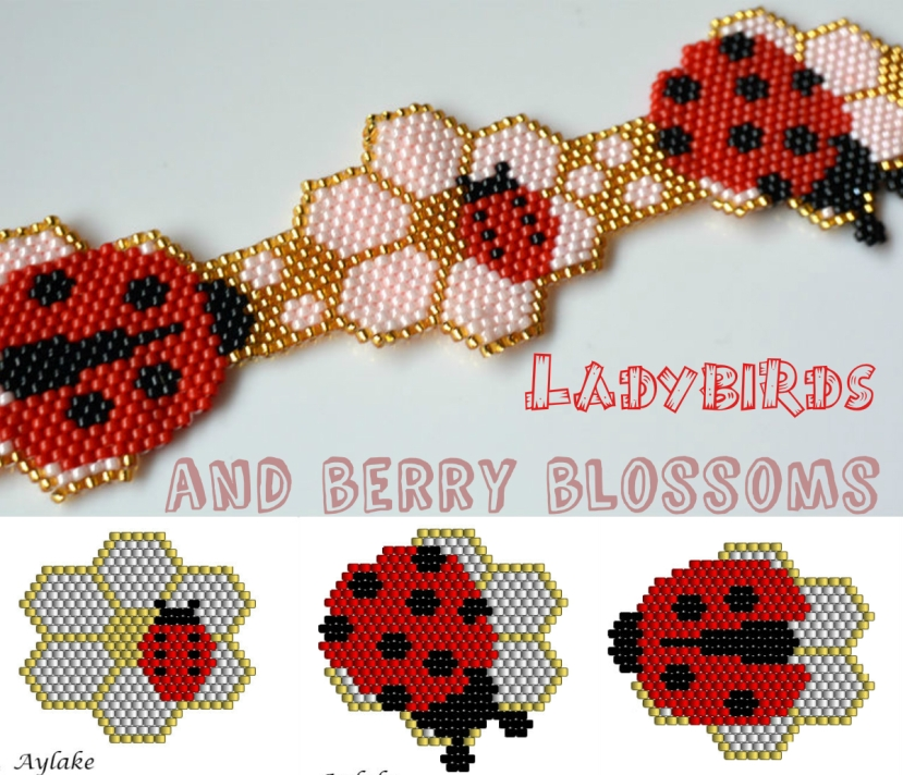 Ladybirds-And-Berry-Blossoms-Brings-Love-And-Joy-For-Everyone-Peyote-Bracelet-Tutorial-Aylake-4