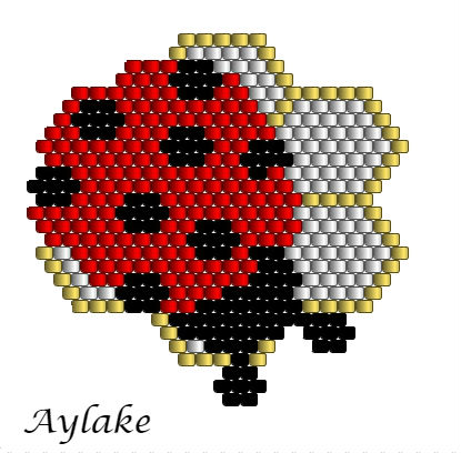 Ladybirds-And-Berry-Blossoms-Brings-Love-And-Joy-For-Everyone-Peyote-Bracelet-Tutorial-Aylake-6