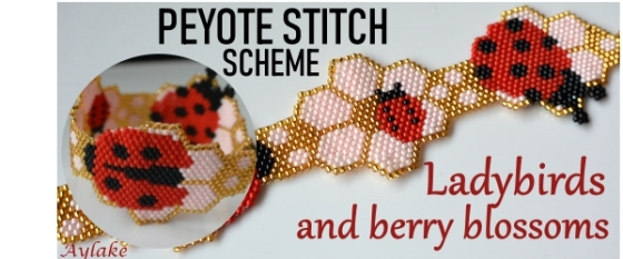 Ladybirds-And-Berry-Blossoms-Brings-Love-And-Joy-For-Everyone-Peyote-Bracelet-Tutorial-Aylake