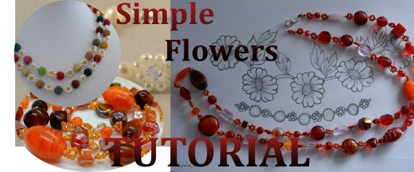 Simple Flowers - Beading tutorial