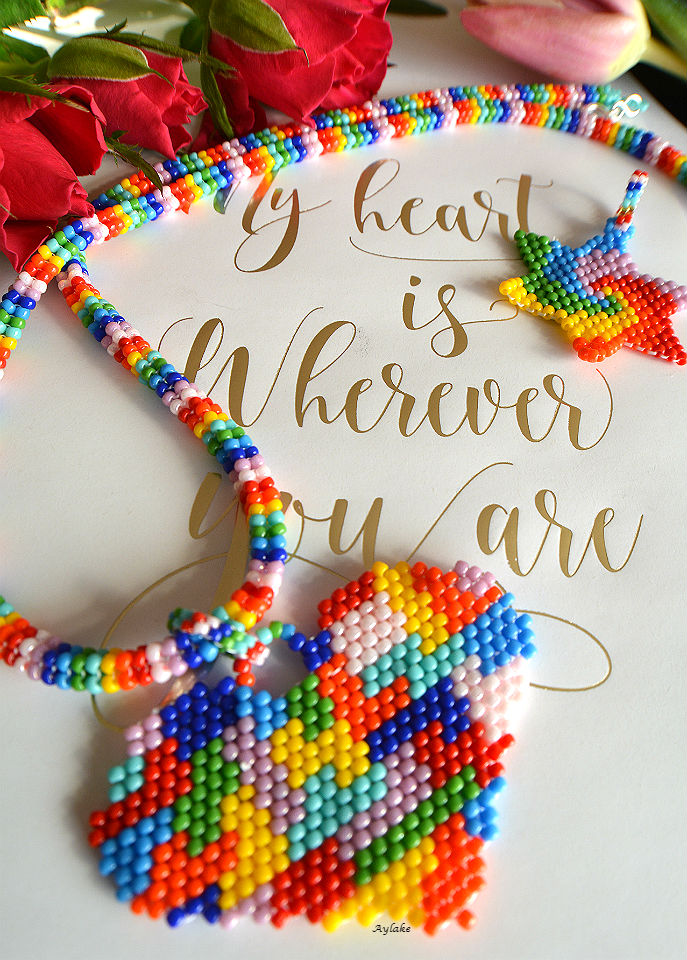 Somewhere-Over-The-Rainbow-You-Are-So-Loved-Peyote-Jewelry-Aylake-1
