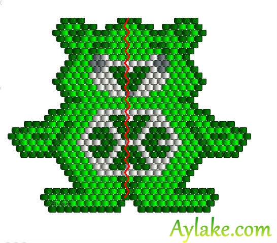 The-Endless-Spring-Charm-I'm-Not-Lucky-I'm-Blessed-Jewelry-Peyote-Tutorial-Aylake-5
