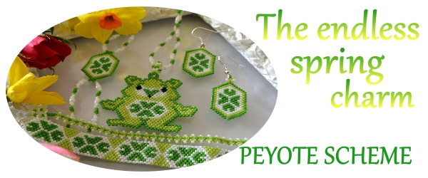 The-Endless-Spring-Charm-I'm-Not-Lucky-I'm-Blessed-Jewelry-Peyote-Tutorial-Aylake