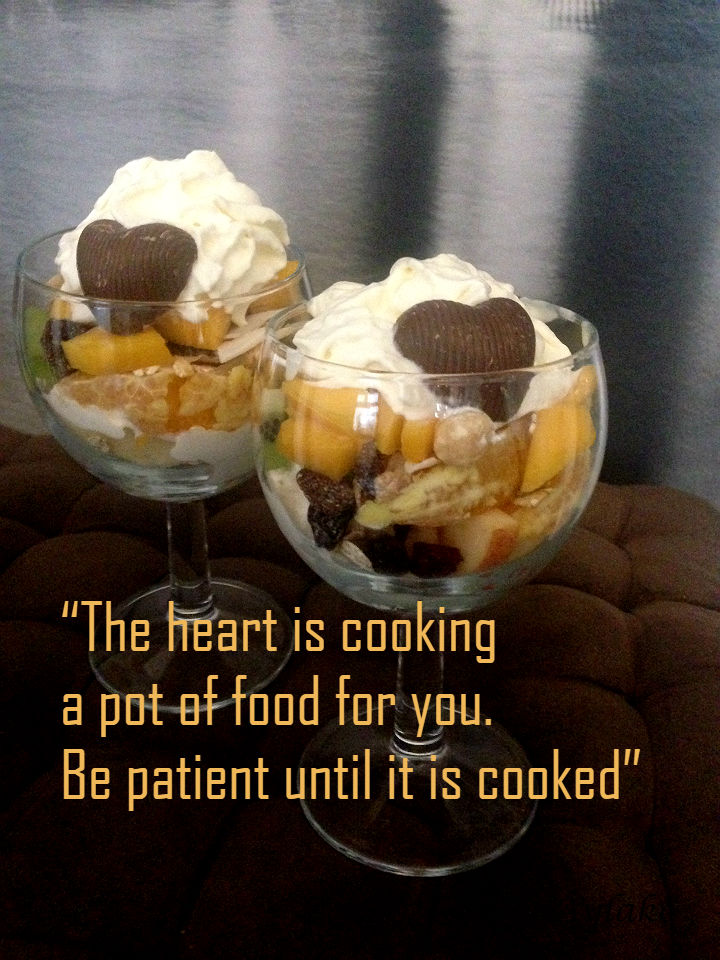 The heart is cooking a pot of food for you