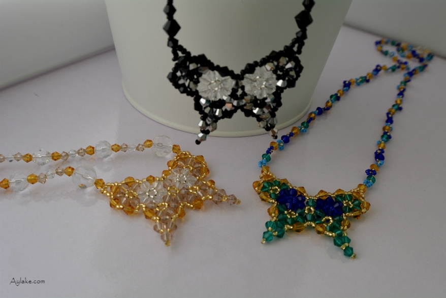 Butterflies are like dream flowers Beaded Necklace Aylake 2