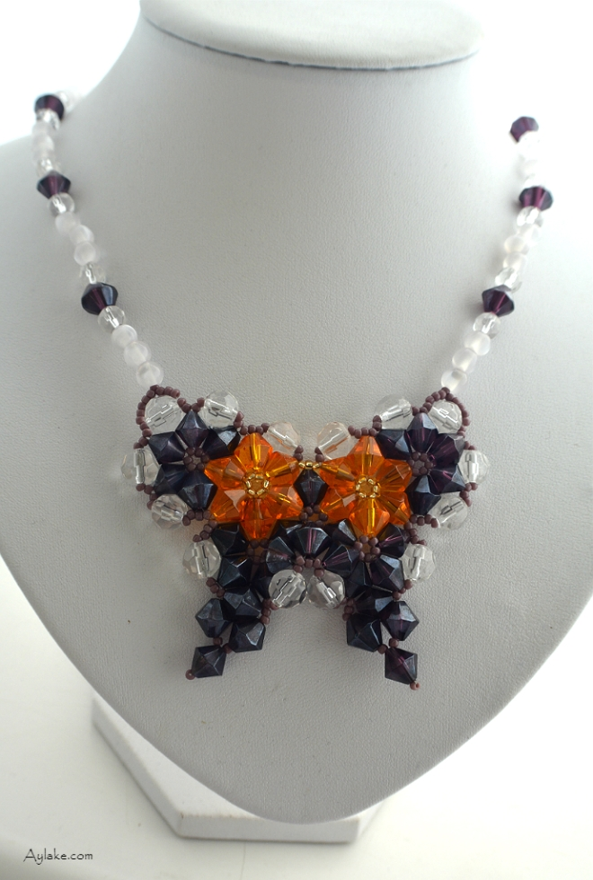 Butterflies are like dream flowers Beaded Necklace Aylake 3
