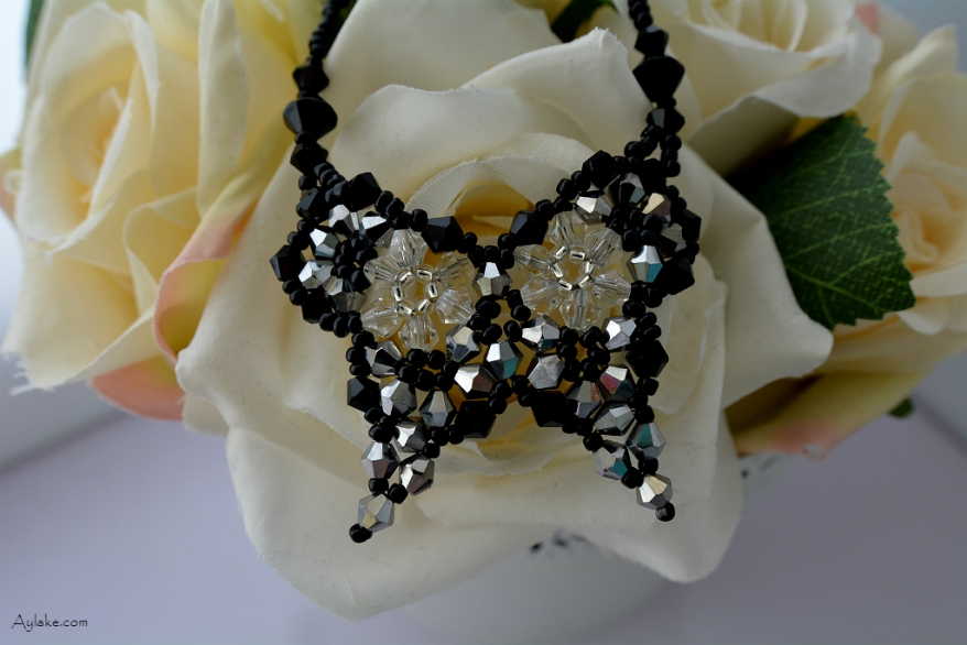 Butterflies are like dream flowers Beaded Necklace Aylake 6