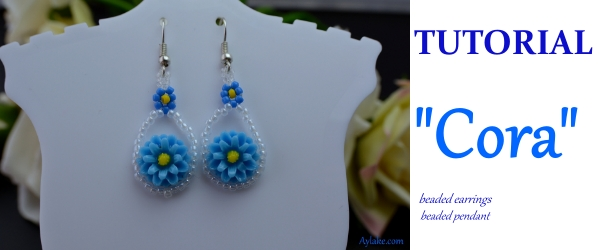 Cora Earrings Necklace Love is the beginning and end of everything Beading Tutorial Aylake Ailaviu 1