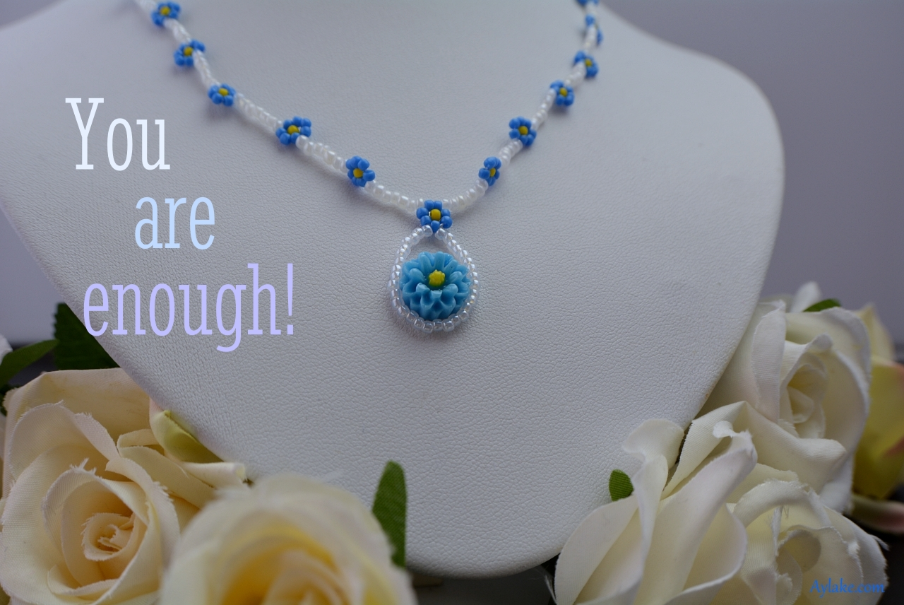 Cora Earrings Necklace You are enough Beaded Tutorial Aylake Ailaviu