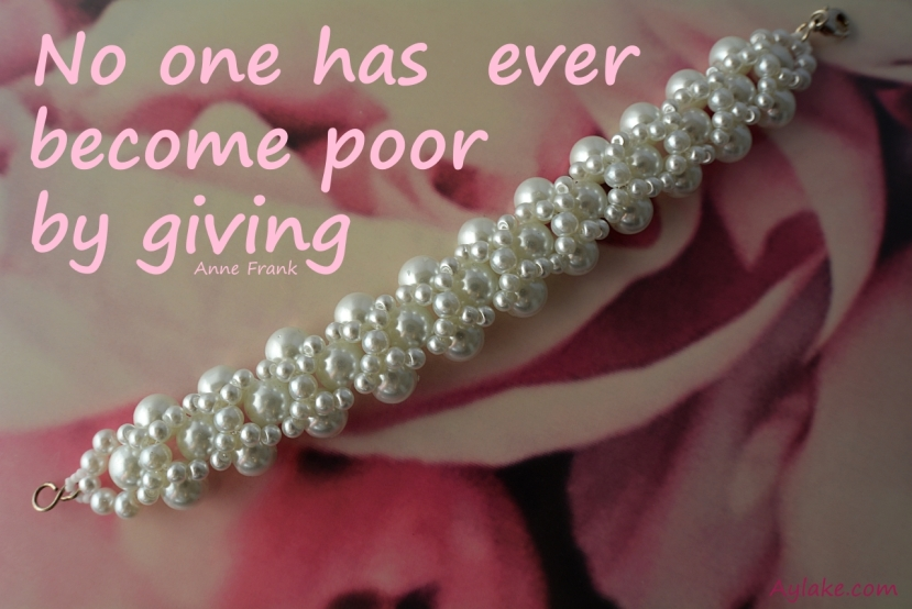 Criss Cross Bracelet No one has ever become poor by giving Beading Tutorial Aylake Ailaviu