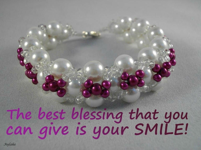 Criss Cross Bracelet The best blessing that you can give is your smile Beading Tutorial Aylake Ailaviu