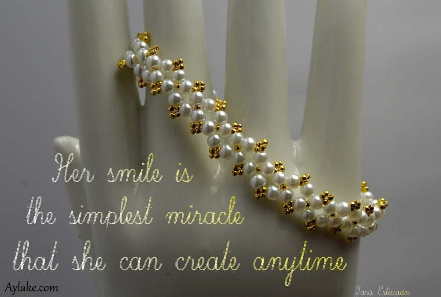 Dimond Bracelet Her smile is the simplest miracle that she can create anytime Beading Tutorial Aylake Ailaviu