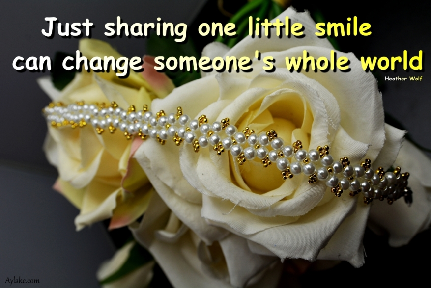 Dimond Bracelet Just sharing one little smile can change someones whole world Beading Tutorial Aylake Ailaviu