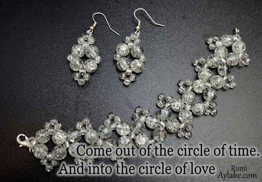 Dimond Earrings Come out of the circle of time and into the circle Beading Tutorial Ailaviu Aylake