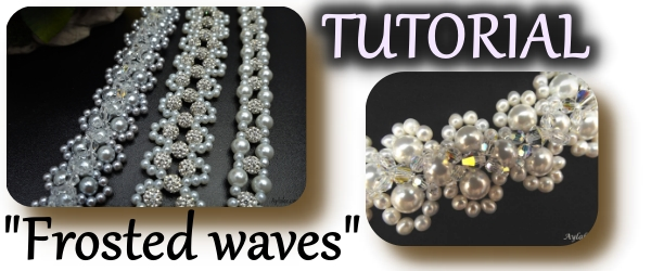 Easy beaded bracelet Frosted Waves animated Tutorial Ailaviu Aylake