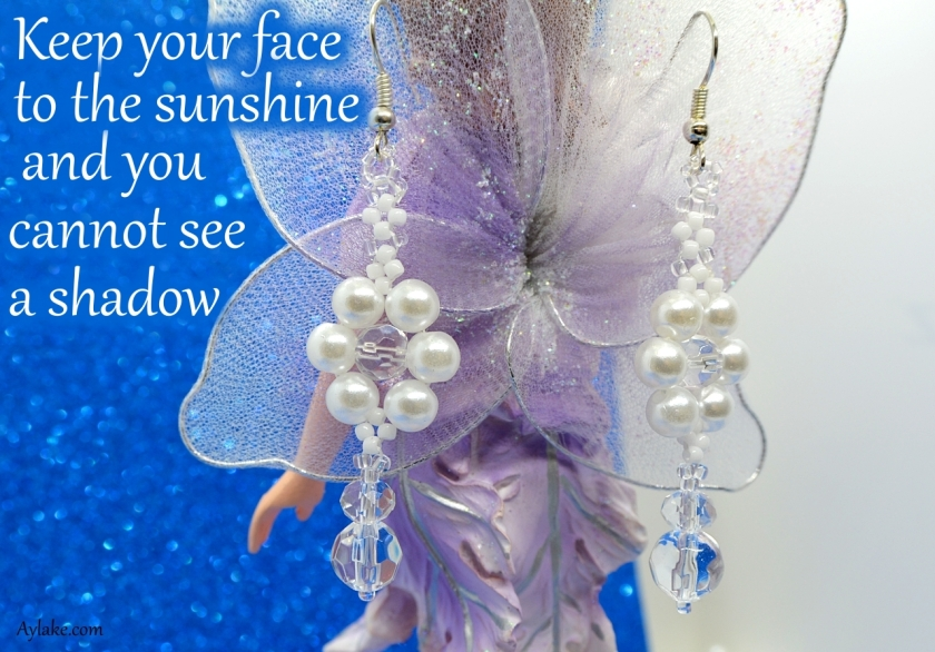 Floreia Earrings Keep your face to the sunshine and you cannot see a shadow beading tutorial ailaviu aylake