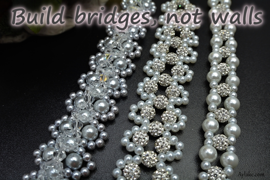 Frosted Waves Bracelet Build bridges not walls Beading Tutorial Ailaviu Aylake