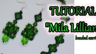 Mila Lillian Earrings Beading Tutorial Aylake Ailaviu