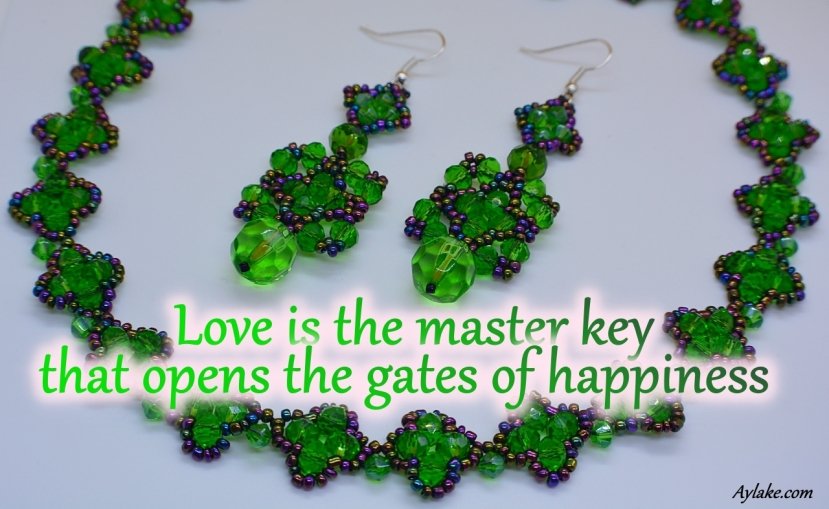 Mila Lillian Earrings Love is the master key that opens the gates of happiness Beading Tutorial Aylake Ailaviu