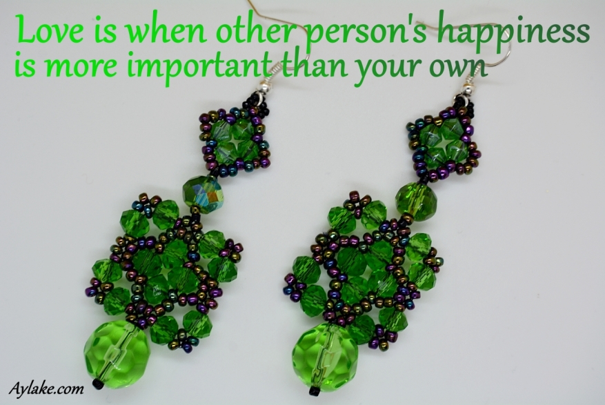 Mila Lillian Earrings Love is when the other persons happiness is more important than your own Beading Tutorial Aylake Ailaviu
