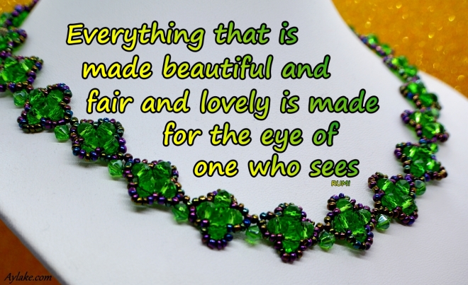 Mila Necklace Everything that is made beautiful and fair and lovely is made for the oye of one who sees Beading Tutorial Aylake Ailaviu