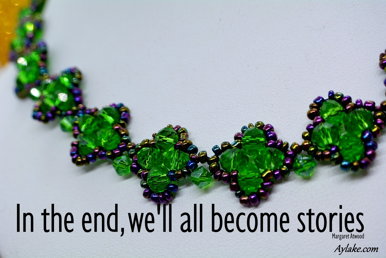Mila Necklace In the end well all become stories Beading Tutorial Aylake Ailaviu