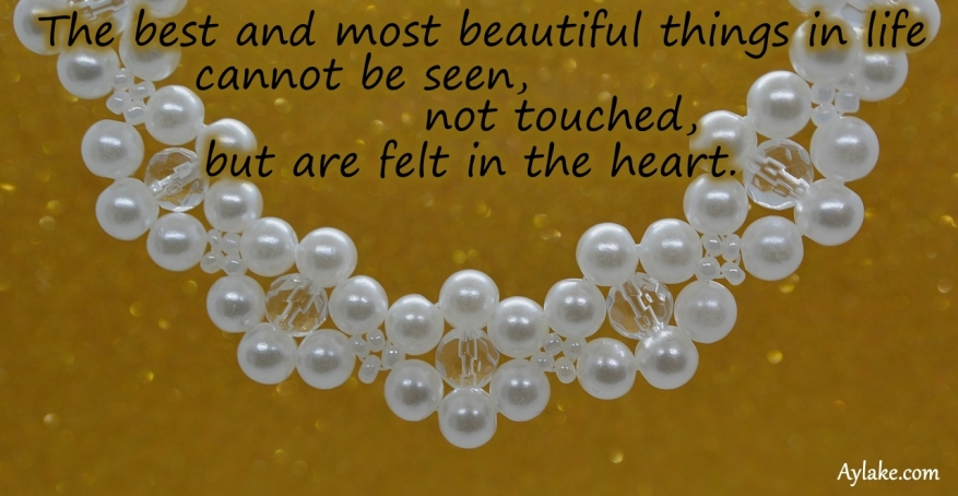 Petty Necklace Bracelet The best and most beautiful things in life cannot be seen beading tutorial ailaviu aylake