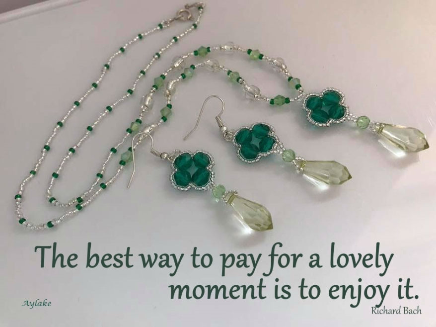 Prezzo Necklace Earrings The best way to pay for a lovely moment is to enjoy it Beading Tutorial Aylake Ailaviu