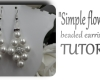 Simple Flowers 2 Earrings Beaded Earrings Animated Tutorial Aylake Ailaviu