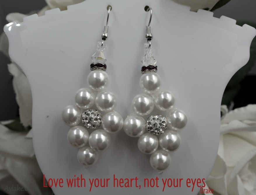 Simple Flowers 2 Earrings Love with your heart not your eyes Beading Tutorial Aylake Ailaviu