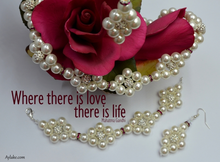 Simple Flowers 2 Earrings Where there is love there is life Beading Tutorial Aylake Ailaviu