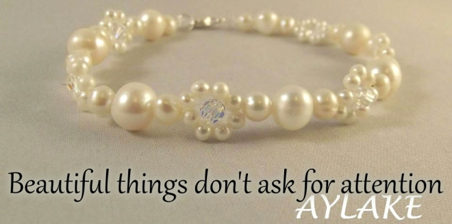 Simple Flowers Necklace Bracelet Beautiful Things dont ask for attention Beading Tutorial Aylake Ailaviu