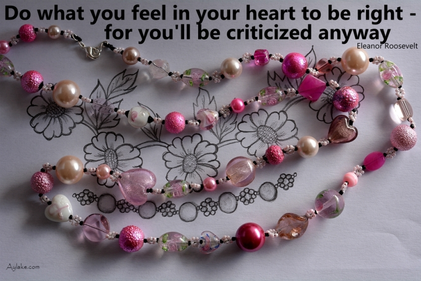 Simple Flowers Necklace Do what you feel in your heart to be right for youll be criticized anyway Beading Tutorial Aylake Ailaviu