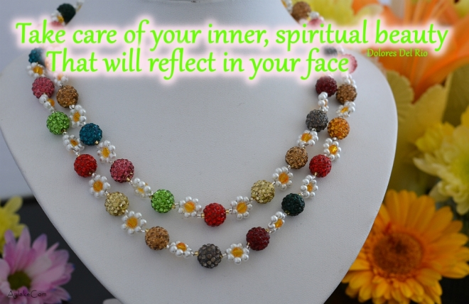 Simple Flowers Necklace Take care of your inner spiritual beauty That will reflect in your face Beading Tutorial Aylake Ailaviu