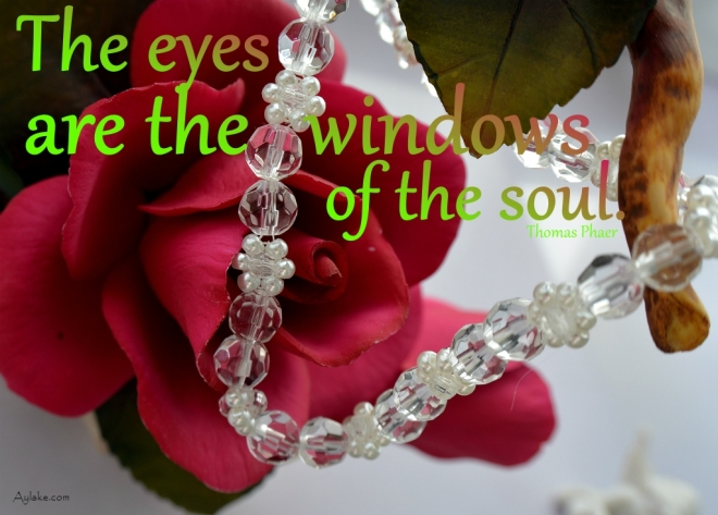 Simple Flowers Necklace The eyes are the windows of the soul Beading Tutorial Aylake Ailaviu