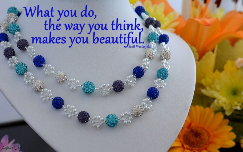 Simple Flowers Bracelet Necklace What you do the way you think makes you beautiful Beading Tutorial Aylake Ailaviu