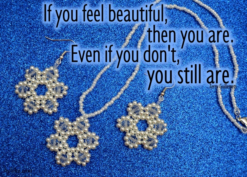Starlet Earrings Necklace If you feel beautiful then you are even if you dont you still are Beading tutorial Aylake Ailaviu