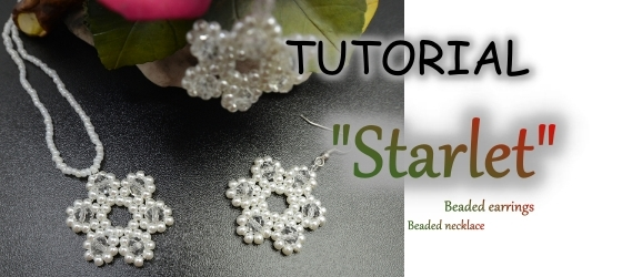 Starlet Earrings Necklace If you feel beautiful then you are even if you dont you still are Beading tutorial Aylake Ailaviu1