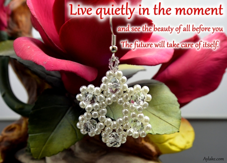 Starlet Earrings Necklace Live quietly in the moment and see the beauty of all before you Beading Tutorial Aylake Ailaviu