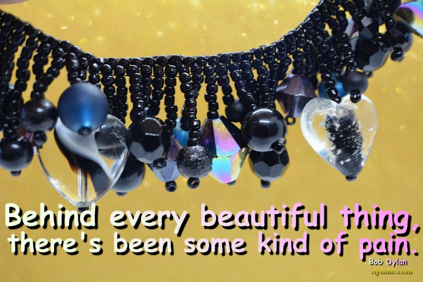 Tassels Party Bracelet Behind every beautiful thing theres been some kind of pain Beading Tutorial Aylake Ailaviu