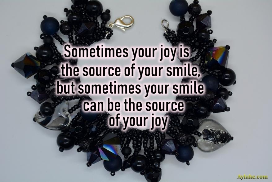 Tassels Party Bracelet Sometimes your joy is the source of your smile but sometimes your smile can be the source of your joy Beading Tutorial Aylake Ailaviu