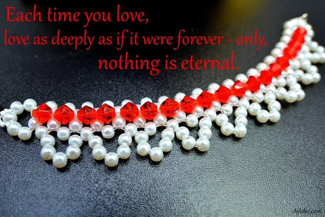 Tiny Lace Bracelet Each time you love love as if it were forever Beading Tutorial Ailaviu Aylake