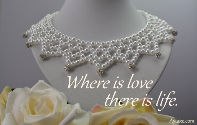 Triangles on the collar Necklace Where is love there is life Beading Tutorial Aylake Ailaviu